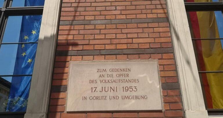 17. Juni 2020 Gedenktafel in Görlitz