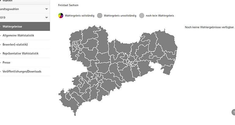 Screen Landeswahlleiter Sachsen
