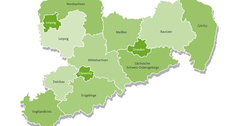 Sachsen Karte Bunt