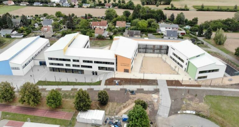 Gymnasium Wilsdruff Luftbild 2020 08