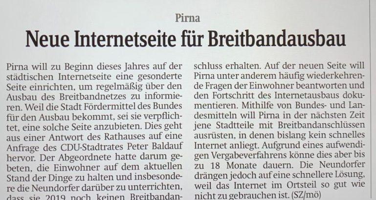 CDU für schnelles Internet