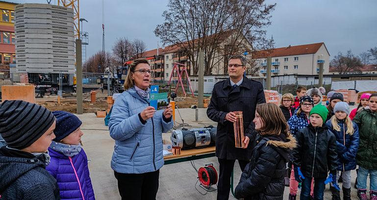Grundsteiblegung Weinböhlaer Grundschule 2