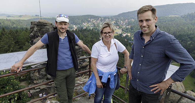 Wanderung mit Kulturministerin Barbara Klepsch