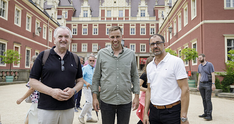 Staatsminister Thomas Schmidt, Florian Oest, Bürgermeister Thomas Krahl