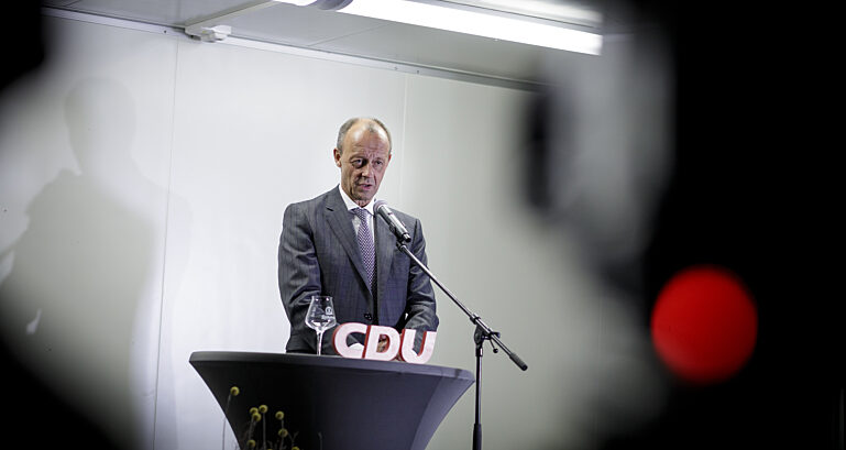 Friedrich Merz spricht in Görlitz